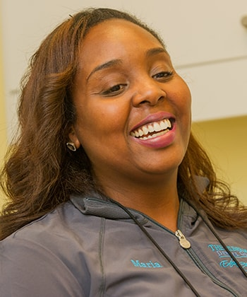 Maria working at The Silberman Dental Group who is part of the Waldorf dental team.