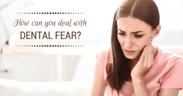 An anxious patient wondering how to deal with dental fear